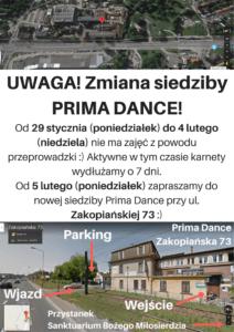 Nowa siedziba Prima Dance