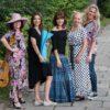 Biało Czarna Sukienka W Grochy z falbanami Anna Protas Fot: Daria Olzacka, Wizaż: Justyna Lunar Make Up