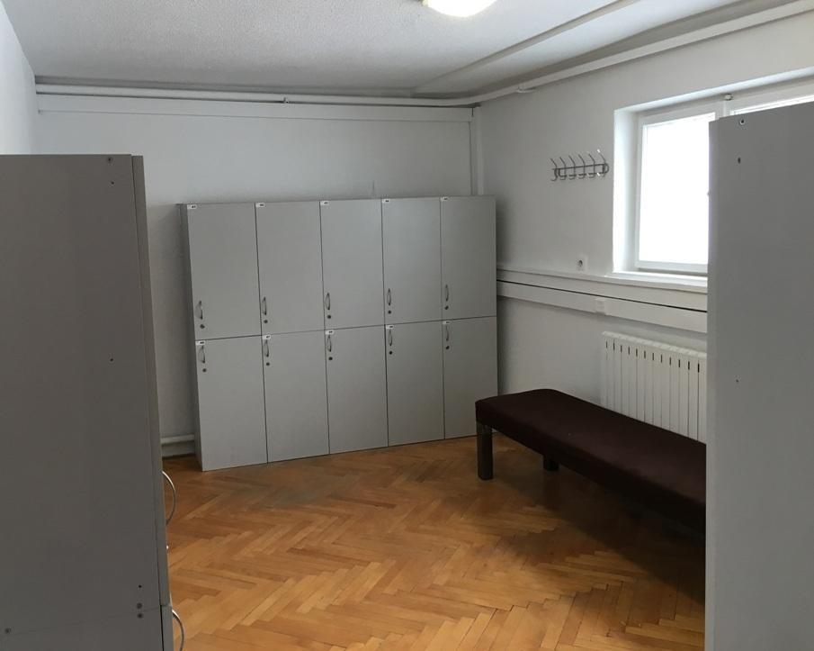 sala na wynajem Kraków szatnia