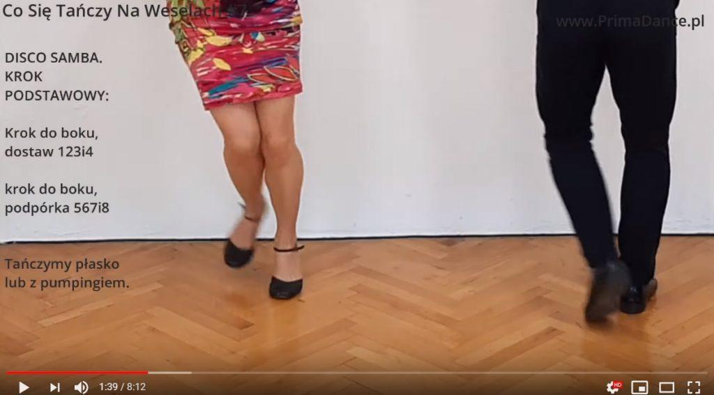 taniec na wesele Disco Samba krok podstawowy