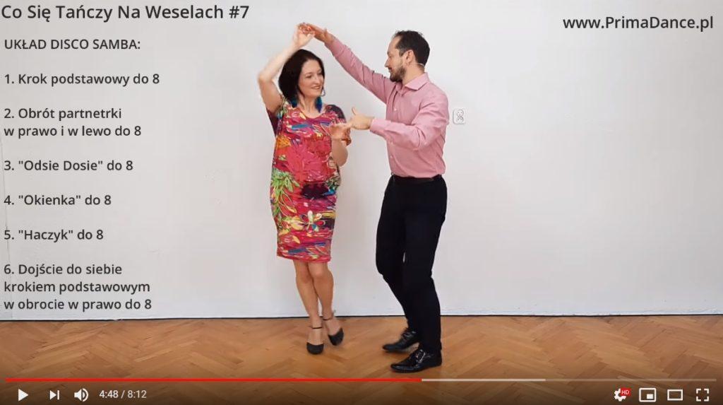 taniec na wesele Disco Samba układ 6